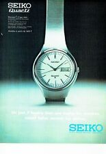 PUBLICITE ADVERTISING 017  1973  la montre Seiko quartz
