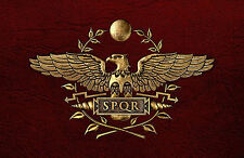 Framed Print - SPQR Roman Soldier Logo/Symbol (Gladiator Rome Colosseum Fight)