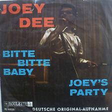 """7"""" JOEY DEE : Bitte Bitte Baby (SUNG GERMAN) /MINT-?"""