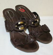 Ladies Womens Rockport Brown Manmade Casual Wedges Heels Shoes Size 10M