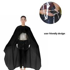 Pro Hair Cutting Cape Salon Hairdressing Viewing Window Gown Barber Cloth Black