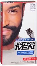 JUST FOR MEN Color Gel Mustache, Beard - Sideburns 115 Jet Black 1 Each (3 pack)