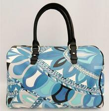 EMILIO PUCCI Large Blue Boston Tote Speedy Bag + additional Wallet
