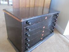 Antique Jessen & Rosberg Solid Wood 6 Drawer Watchmaker's Jewelers Cabinet Old
