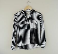 Women's Urban Outfitters Silence + Noise Striped Button Down Shirt Black Size XS