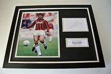 Ruud Gullit SIGNED FRAMED Photo Autograph 16x12 display AC Milan PROOF & COA
