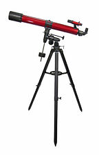 Carson Red Planet Refractor Telescope 50-100x 90mm Corner Lens Equatorial RP400