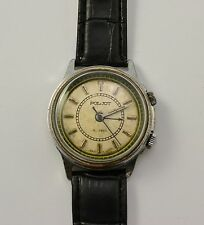 Vintage Soviet Watch Mens POLJOT Alarm Watch Working Russian  1970s