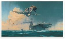 Robert Taylor print, Phantom Showtime autographed by aces Cunningham & Driscoll