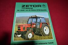 Zetor 7711 Tractor Dealer's Brochure LCOH In German