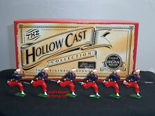 BRITAINS 40198 HOLLOWCAST CHARGING ZOUAVES RUNNING METAL TOY SOLDIER FIGURE SET
