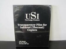 USI Transparency Film FOR INFRARED (THERMAL) COPIERS 100 SHEETS MX22 NEW NOS