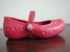 Crocs Alice Ruby Pink UK Size 2 US 4  Shoe with strap