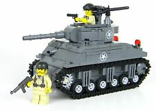 Deluxe M4 Sherman US Army World War 2 Tank Custom Set made w/ real LEGO® brick