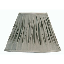 Grey Pinched Pleat Fabric Lamp Shade 5 inch OAKS601/5GY - Oaks Lighting