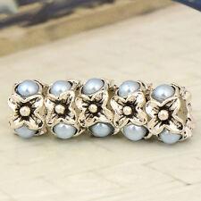 5pcs Tibetan Silver Blue Acrylic Bead  Fit European Charm Braceletn X0531