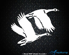 """Geese Flying Canadian Hunting Goose Car Decal / Laptop Sticker - White 5"""""""
