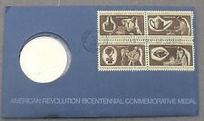 1972 Bicentennial First Day Cover Medallion~Revolution~Geor ge Washington~Fr/Ship