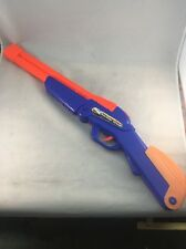 Buzz Bee Double Shot Blaster Double Barrel Dart Gun Air Toy Blue Rifle