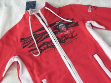 SOCCX Sweat JACKE rot Gr. L 40 NEU British Columbia Flights II Sweatjacke