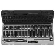 "Grey Pneumatic  35-Piece 3/8 "". Drive St&ard & Deep Length Metric Duo-Socket Set"