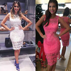 Women Casual Lace Bodycon Bridesmaid Dress Maxi Party Evening Cocktail Dress