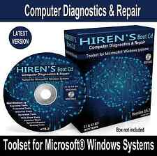 Windows 7 8.1 10 Computers Laptops PC Repair Recovery Software Hirens Boot Disc