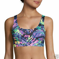Inspired Hearts Tropical Print Performance Bralette Size L New With Tags