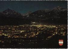 Alte Postkarte - Innsbruck bei Nacht