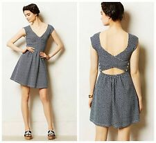 NWT Anthropologie Matilde Dress by Postmark, Blue, 0, Fit & Flare Summer Dress