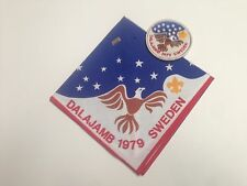 Boy Scout Patch and Neckerchief, 1979 World Jamboree Dalajamb US Contingent SET