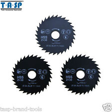 3Pc 54.8x11.1mm HSS Mini Circular Saw Blade for Steel Cutting laminate plastic