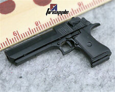 "1/6 4D Assembling Black Desert Eagle Pistol Gun Weapon Model Toy For 12"" Figure"