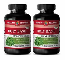 Brain Booster Capsules - Holy Basil Extract 745mg - Tulsi Holy Basil Seeds 2B