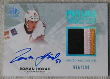 11/12 SP Authentic Roman Horak Future Watch Limited Auto Patch RC Card #76/100
