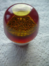 RARE  VINTAGE LUCITE CAR AUTO  SHIFT KNOB GEAR  WITH FILIGREE  BROOCH INSIDE #3