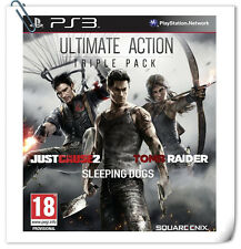 【3 IN 1】 PS3 PlayStation Ultimate Action Triple Pack TOMB RIDER SLEEPING DOG