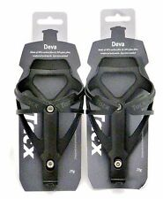 Tacx Deva Water Bottle Cages PAIR Matte Black Free Shipping
