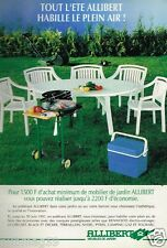 Publicité advertising 1991 Mobilier Le Salon de Jardin Allibert