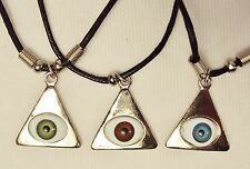 Pyramid Eye Necklaces ~ Set of 3 (One Each: Brown, Blue, & Green) ~ #5430030