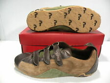 EVISU SHIKO LOW SNEAKERS MEN SHOES BROWN EV114009 SIZE 12 NEW