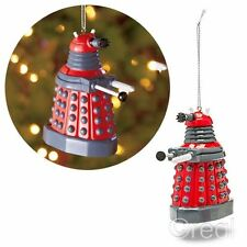 New Doctor Who Red Dalek Xmas Ornament Christmas Tree Decoration Bauble Official
