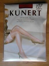 Kunert garter belt stockings - long stockings Satin Look 15 transparent shiny