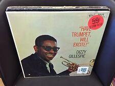 Dizzy Gillespie Have Trumpet Will Excite vinyl LP EX MONO 1960 VERVE in Shrink