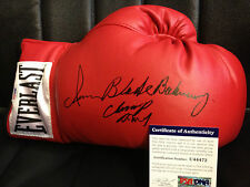 IRAN Blade BARKLEY Auto Autograph Signed Everlast Leather Boxing Glove PSA/DNA