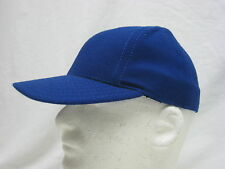 VINTAGE ROYAL BLUE HAT BALL CAP * MADE IN USA * STRETCH FITTED SMALL   (#U-21)
