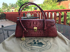 Brahmin--Crocodile/Alligator Red Leather Satchel/Purse--Small--Lightly Worn