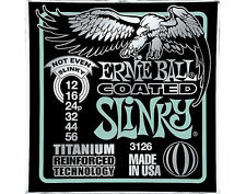 Ernie Ball 3126 Coated Titanium Reinforced Not Even Slinky 12-56 String Set