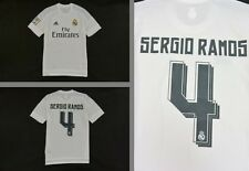 GALACTICOS  2015-2016 adidas Real Madrid Home Shirt SERGIO RAMOS #4 SIZE M men's