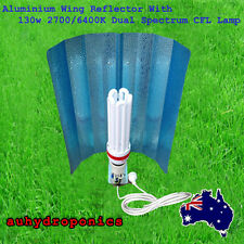ALUMINUM WING REFLECTOR WITH 130W 2700/6400K DUAL SPECTRUM CFL LAMP